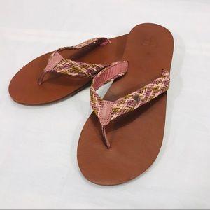 Roxy Lola Mauve, Pink & Tan Flip Flops NWT/NIB